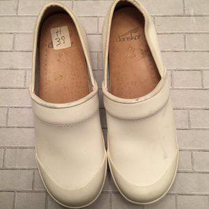 Dansko White Leather Clogs 39 8